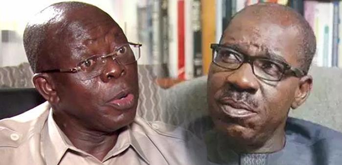 Edo state governor, Godwin Obaseki, threatens to expel Adams Oshiomole from APC